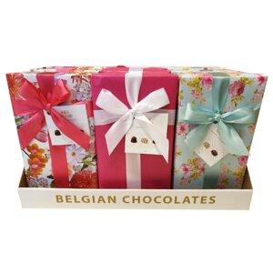 CHOKLADBUDET - Vårig presentask med belgiska praliner