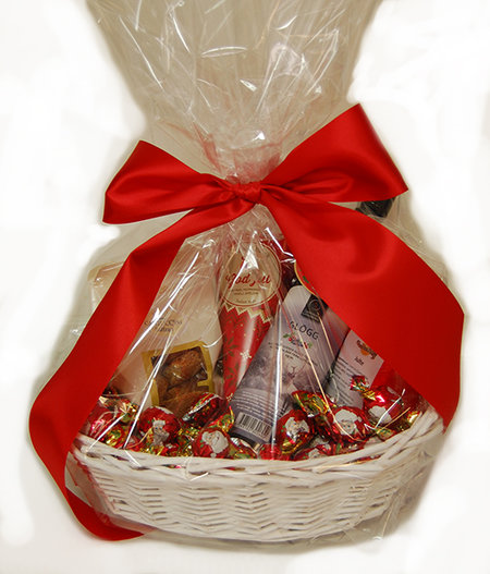 CHOKLADBUDET - Glöggkorg med choklad, te, cantuccini etc