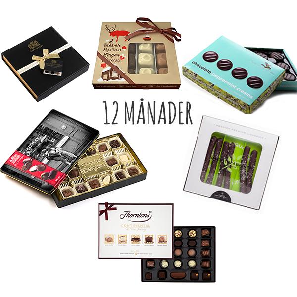 CHOKLADBUDET - Chokladprenumeration 12 MÅNADER