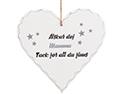 """Trähjärta med text - """"Älskar dej Mamma Tack för att du finns"""" - à 39 kr"""