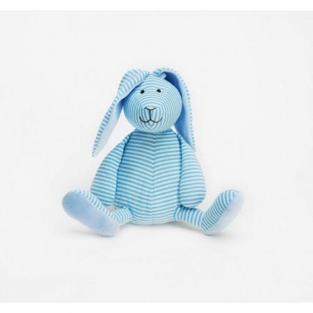 CHOKLADBUDET - Ljusblå randig kanin, Teddykompaniet