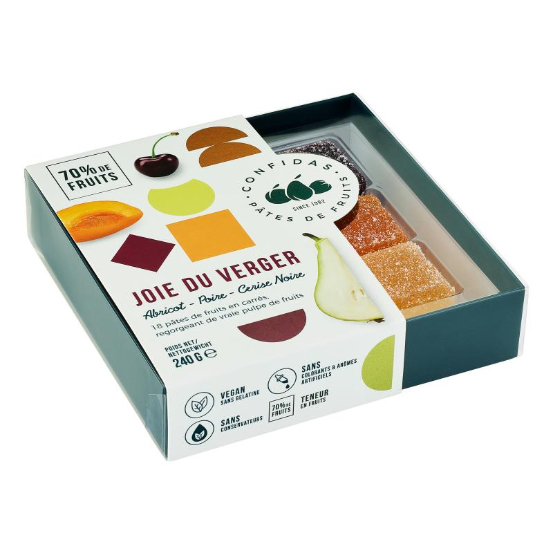 Marmeladkonfekt i presentask - Trädgårdsfrukt
