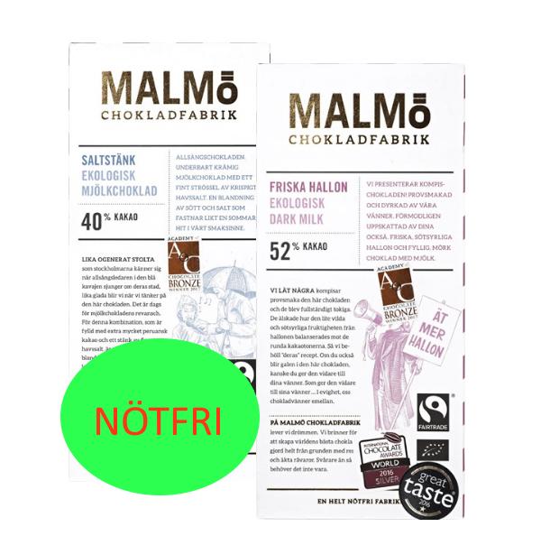2 Ekologiska Chokladkakor i set - Saltstänk & Friska Hallon