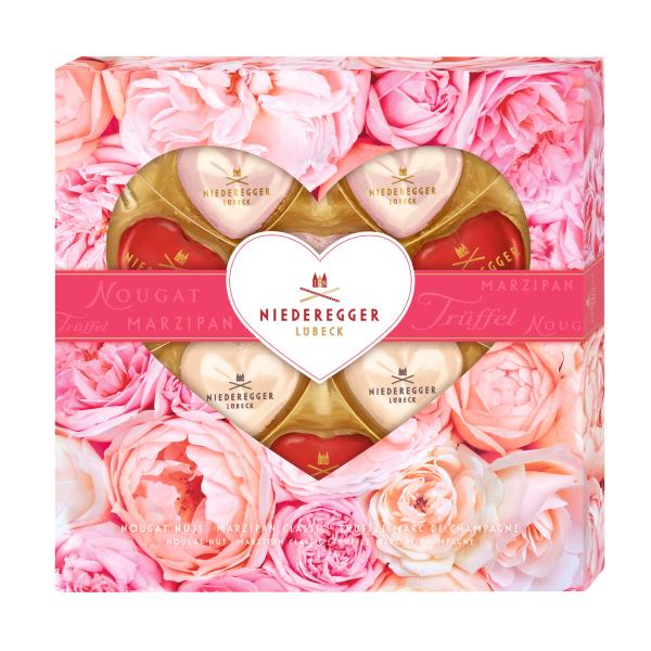 CHOKLADBUDET - Chokladhjärtan i kärleksfull ask