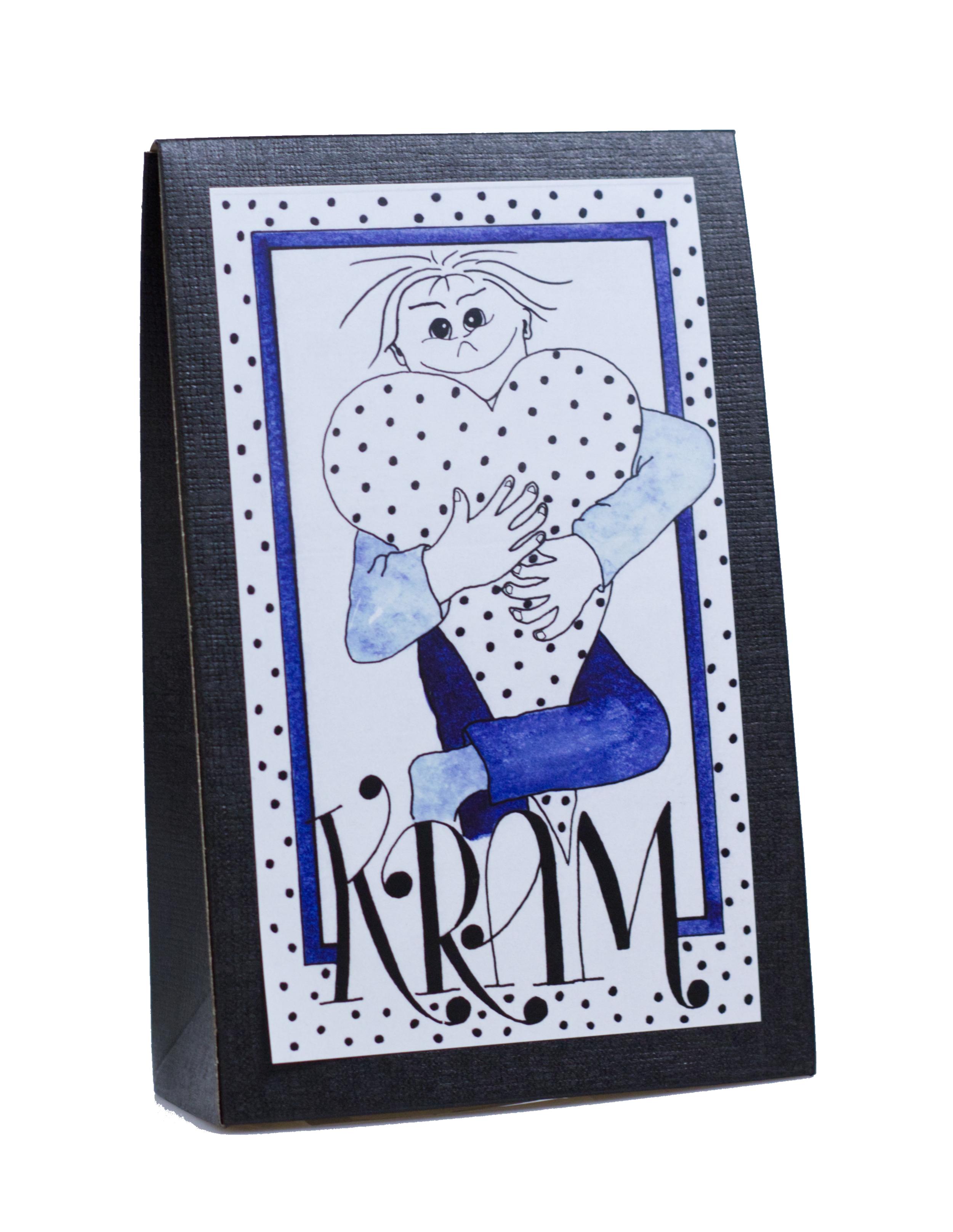Presentask med choklad 'Kram' - Blå