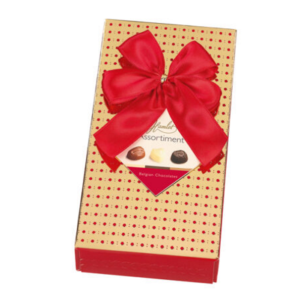 CHOKLADBUDET - Gatsby guldiga ask med röda prickar