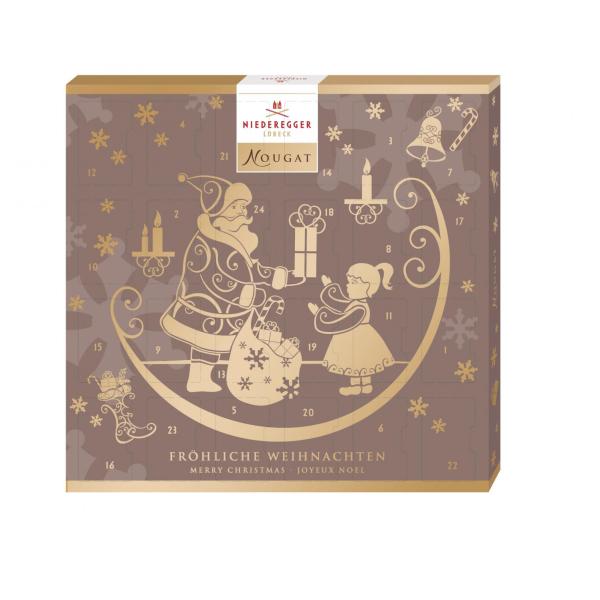 Chokladkalender med nougat från Niederegger