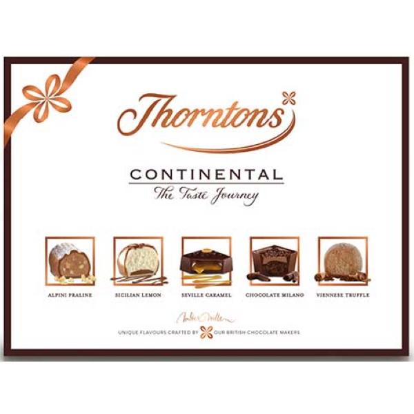CHOKLADBUDET-Thorntons Continental mellan