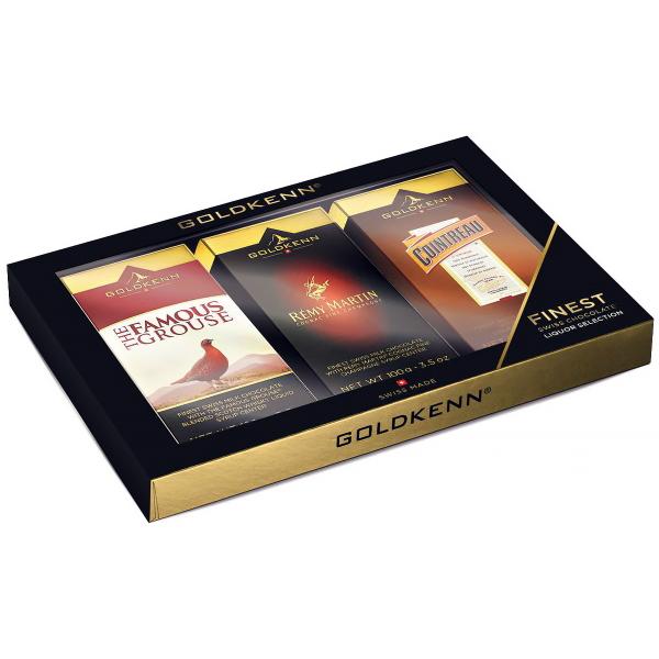 CHOKLADBUDET - Presentask med choklad fylld med likör 3x100 gr